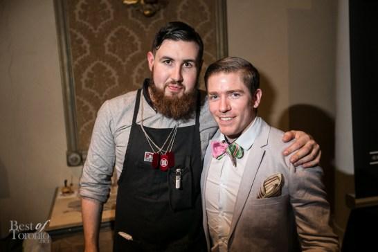 Casey Ryan (Marben), Simon Hooper (Disaronno Mixing Star Toronto winner)