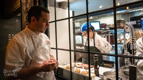 Chef Steve Silvestro watching fresh mozzarella being made