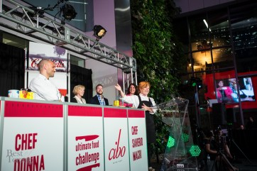 Chef Donna Dooher (Mildred's Temple Kitchen) announced as the Daily Bread UFC winner | Photo: Nick Lee