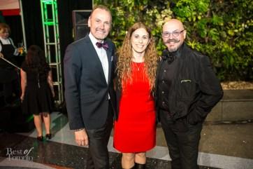 Judges from left to right: Michael Bonacini, Emily Richards, Massimo Capra   Photo: Nick Lee