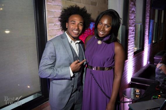 The evening's entertainers: Yosvani Castenada and DJ Lissa Monet