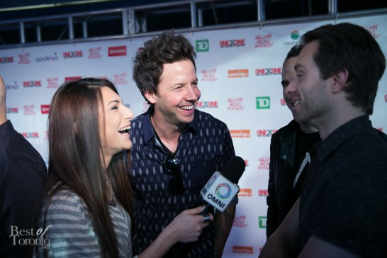 A Simple Plan's Pierre Bouvier speaking with OMNI Television