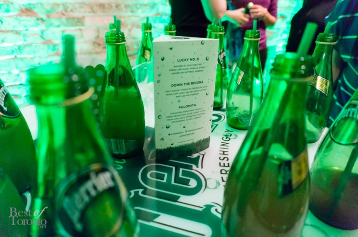The recipes for the Perrier Cocktails