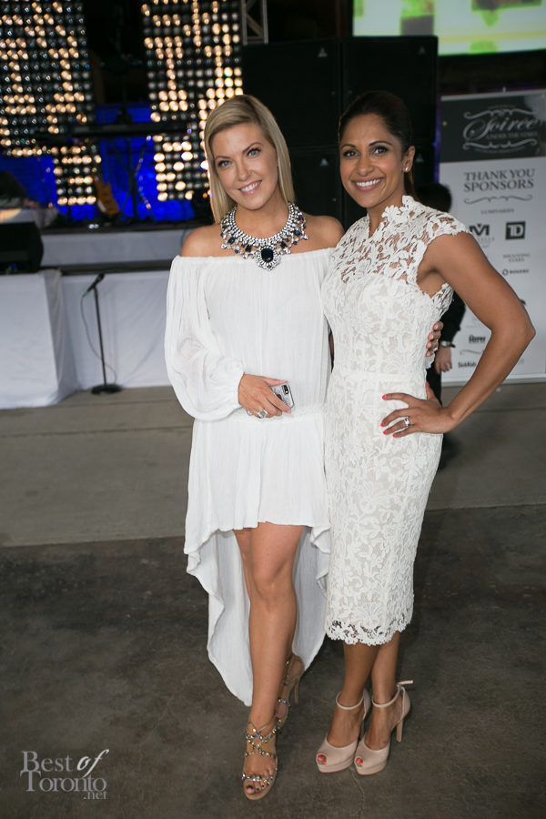 Hosts Cheryl Hickey, Sangita Patel