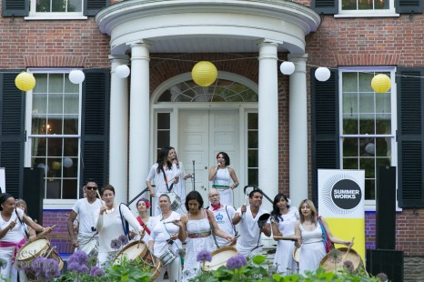 Maracatu You! performing in front of The Campbell House
