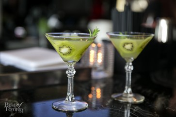 """The Botanist"", a refreshing cocktail with botanist gin, kiwi, lime and lavender bitters - great for hot summers!"