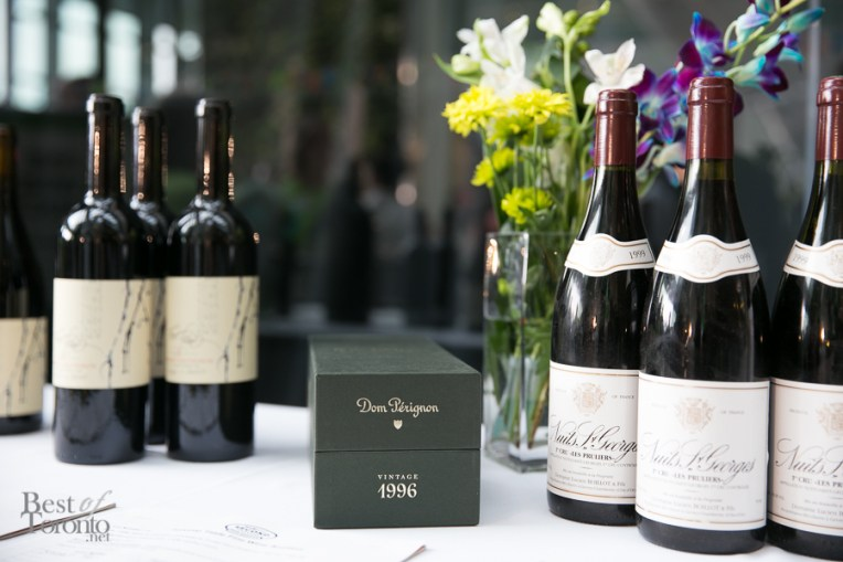 Many fine wines and Dom Perignon up for bid in the silent auction