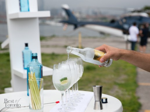 Cocktails for the helicopter ride