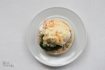 Spinach eggs benedict! Also a meat-lovers version available