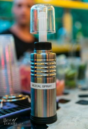 Mezcal in a spray bottle