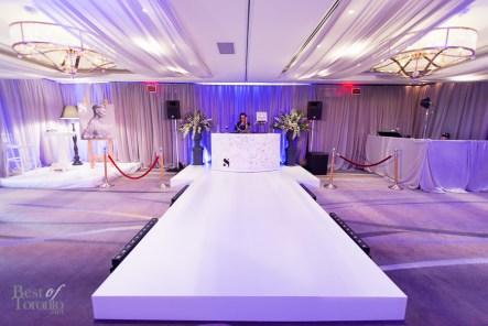 The DJ booth and runway setup