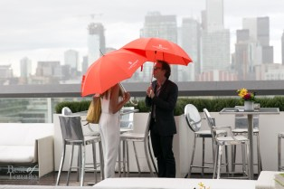 Swanky umbrellas provided by Thompson Toronto Hotels during the rain