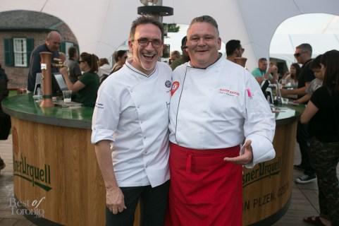 Chef Rick Moonen, Chef Scott Savoie | Photo: Nick Lee