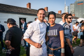 """Chef Carl Heinrich of Richmond Station and Chef Chantana """"Top"""" Srisomphan of Khao San Road"""