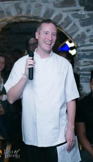 Michael Smith, Barsa Taberna, Executive Chef, greeting guests at the Barsa Taberna launch