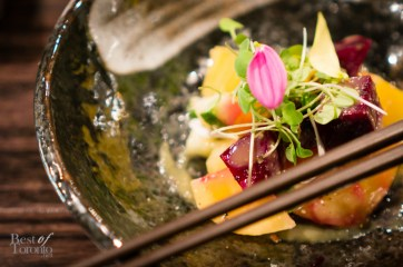 Beet salad with miso mustard sauce | Photo: John Tan
