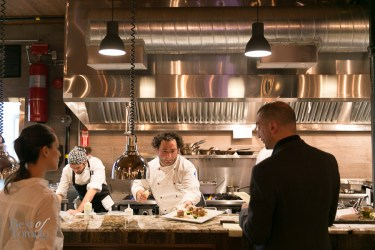 In the open kitchen with Chef Luca Stracquadanio | Photo: Nick Lee