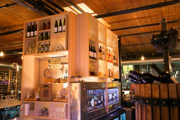The bar including the Enomatic wine system | Photo: Nick Lee