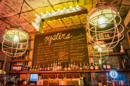 The updated bar at the front with oysters on the menu | Photo: John Tan
