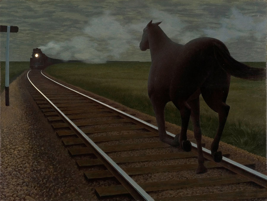 Alex Colville: Horse and Train (1954)