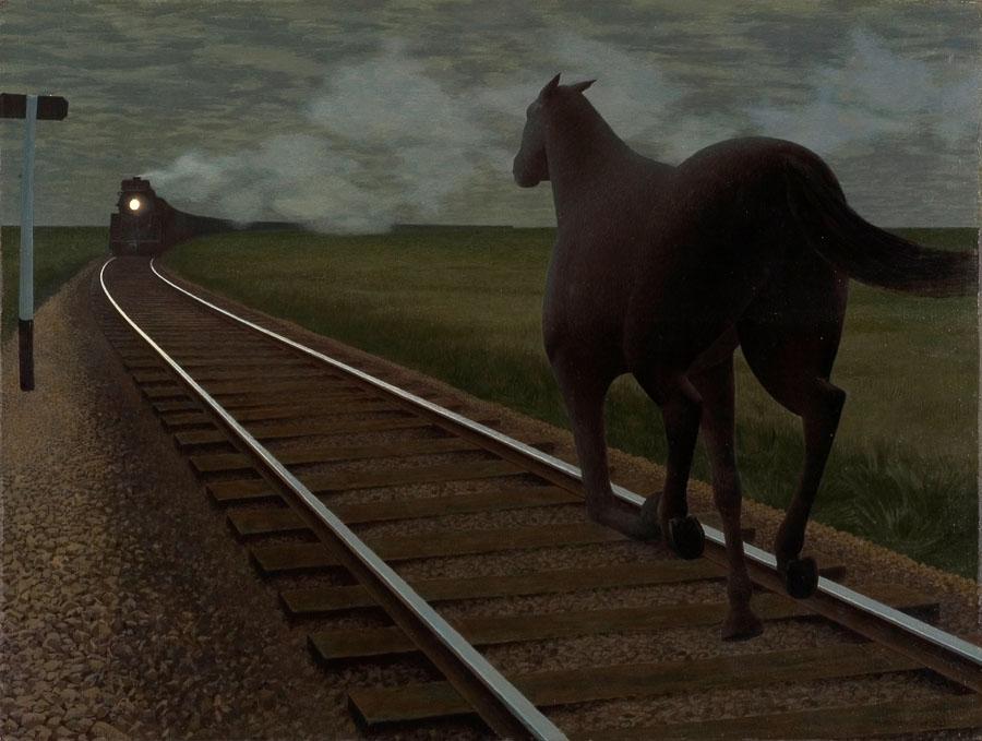 Alex Colville: Horse and Train (1954)