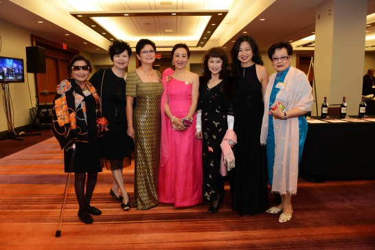 Members of the Board of Governors of Mon Sheong Foundation & Cathay Ball Committee: Stella Chen, Amy Wong, Sylvia Lung, Jo-Cy Lee, Corrina Tai, Susanna Wong, Heidi Au