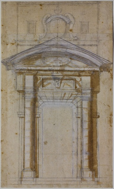 Michelangelo: Study for the Porta Pia in Rome