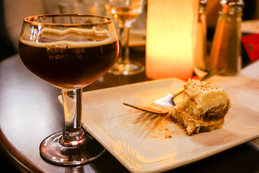 Belgium Sour Beer (Rodenbach Grand Cru) with Tiramisu