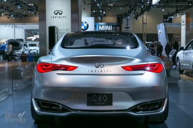 Rear view of the Infiniti Q80 Inspiration Concept