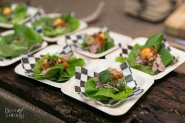Pork bo ssam with lettuce wraps