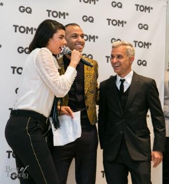 r: GQ Brasil Fashion Editor, Sylvian Justum with Tyler Kenny