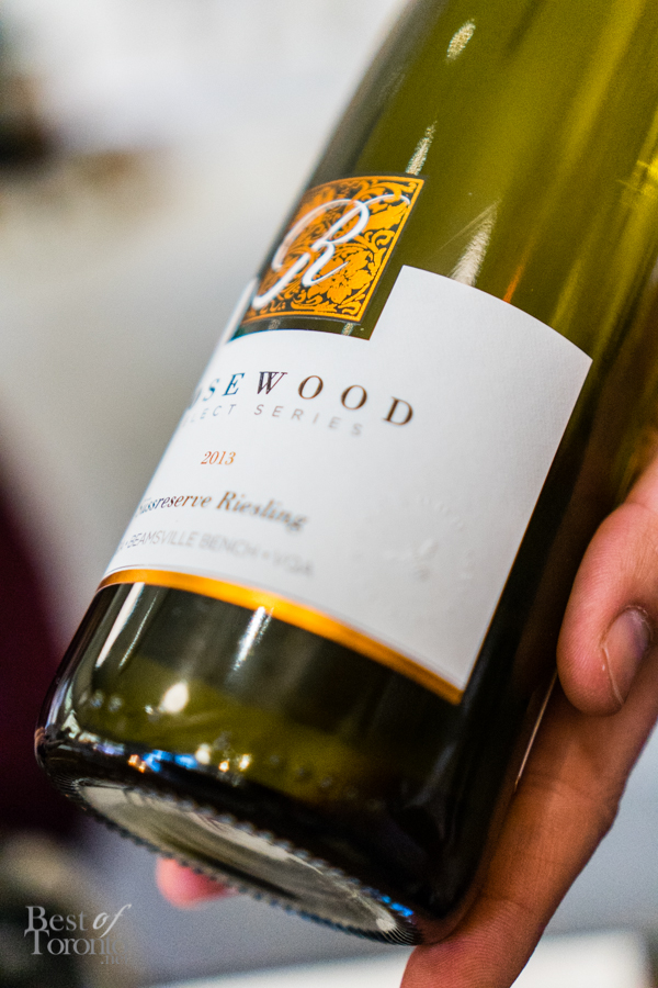 2012 Süssreserve Riesling from Rosewood Estates Winery