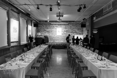 Our gorgeous private dinner setup at Gladstone Hotel