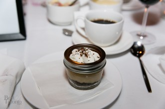Dessert: Butterscotch budino with whipped cream and cookie crumble