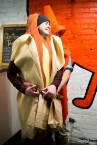 Hot dog and ketchup, together at last!
