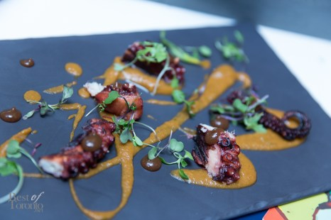 Grilled octopus platter at Barsa Taberna