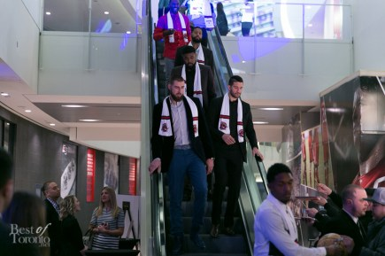 Raptors making their entrance to the Players Gala