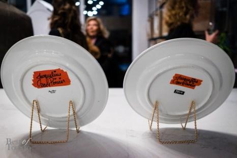 Signature plates from Ritz-Carlton's resident artist Jacqueline Poirier