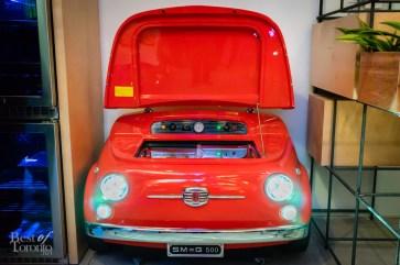 Car beverage refrigerator