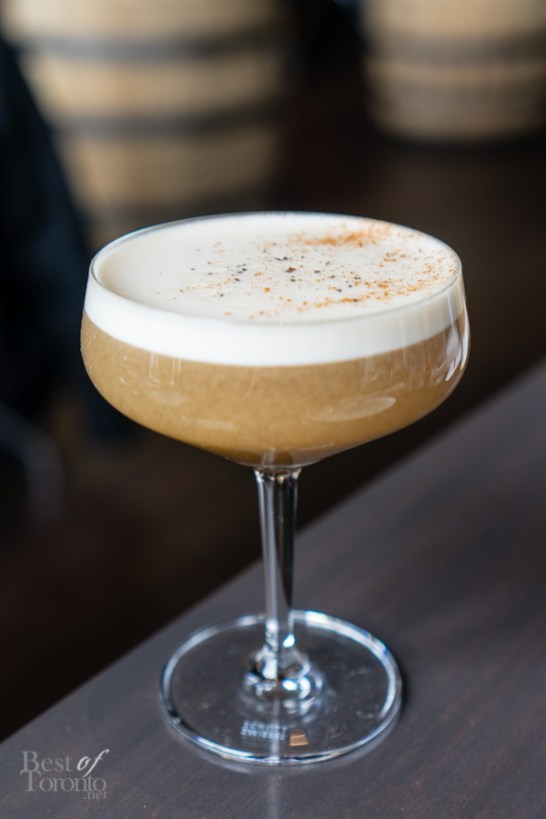 The Northern Borealis | Pike Creek rye, Sortilege maple whiskey, baking spices, banana, egg white