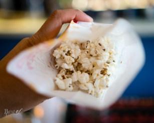 Bacon & smoked scallop popcorn | Splendido