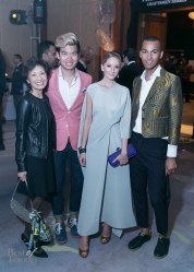 Alexander Liang and his mom, Justin Iaboni, Tyler Kenny