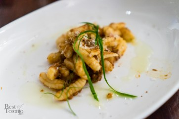 Moose bolognese cavatelli, parmigiano bread crumbs, fresh herbs
