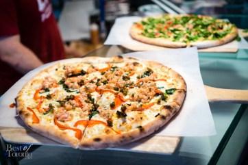 Salmon Tartare pizza