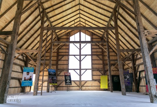 Inside the brand new barn at Burl's Creek