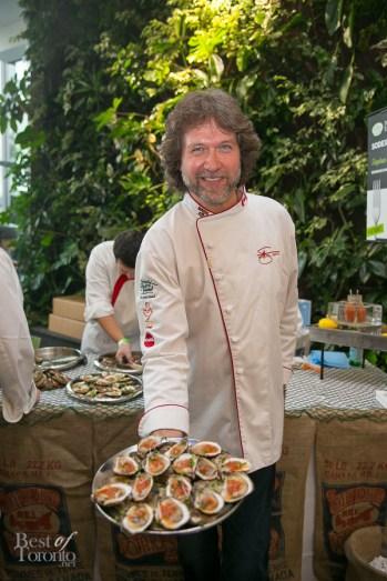 Chef Michael Smith with his Bloody Mary PEI oysters