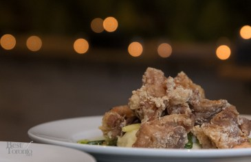 """JFC"" Mennonite-farmed fried chicken, buttermilk mash, tomato & preserved lemon mayo"