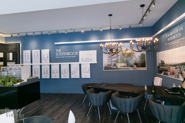 Inside the Streetcar Developments condo showroom at the Upper Beaches