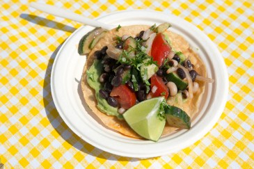 2-Bean tostada with guacamole