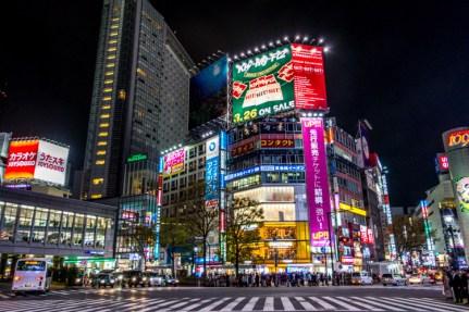 Les panneaux publicitaires du Shibuya Crossing